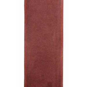 Hallway-Runner-Carpet-Rug-Red-80cm-Rubber-Backed-Aztec-Per-Metre-Floor-Rugs-New