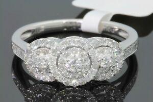 10K-WHITE-GOLD-53-CARAT-WOMENS-REAL-DIAMOND-BRIDAL-WEDDING-RING-ENGAGEMENT-RING