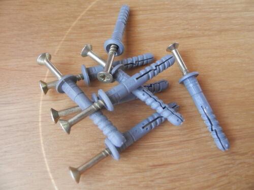 600 Schlagdübel 6x80 Nageldübel gr.Kragen vormontiert