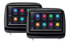 XTRONS Black X P Car Headrest DVD Player Black EBay - Car show headrest monitors