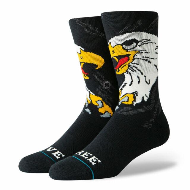 Stance Socks L 9-12 Live Free Classic Crew Combed Cotton Eagle Patriotic New