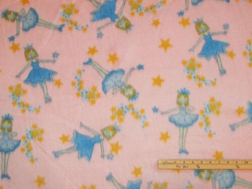 Pink Ballet Ballerina Dance Fleece Fabric by the Yard