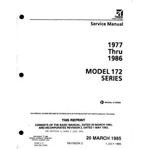 1977-1986 Cessna Model 172 Series Service Maintenance Manual