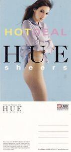 HUE-SHEER-TIGHTS-UNUSED-ADVERTISING-COLOUR-POSTCARD
