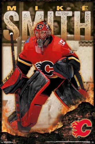 22x34 CALGARY FLAMES POSTER NHL HOCKEY 16265 MIKE SMITH