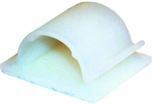 SELF ADHESIVE CABLE CLIPS-NYLON MEDIUM 6MM DIAMETER PACK OF 100