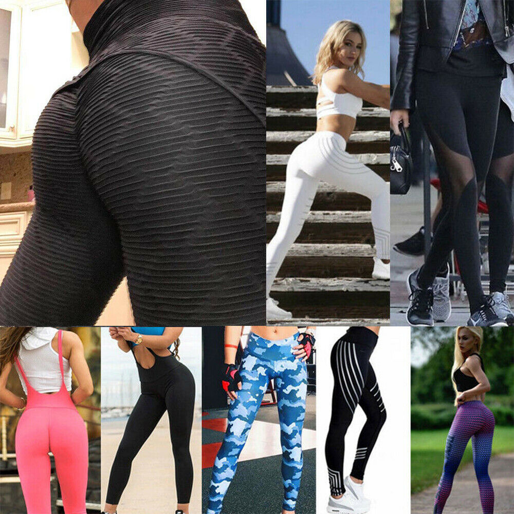 TOP Women Yoga Pants Fitness Leggings Running Gym Exercise Sports Trousers 2020