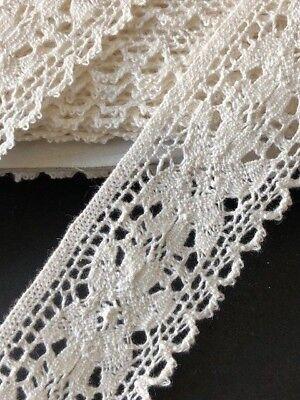 """laverslace Pale Beige Vintage Cotton Cluny Crochet Lace Trim 1.25/""""//3cm"""