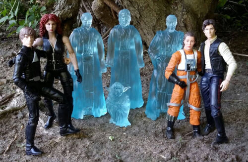 "Custom Cast 6/"" Jedi Force Ghost Spirit Set 3 STAR WARS figures noires San Diego comic-con H"