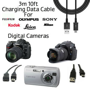 3m-10ft-Charging-Data-Transfer-Sync-Cable-Cord-For-Digital-Cameras-Camcorders