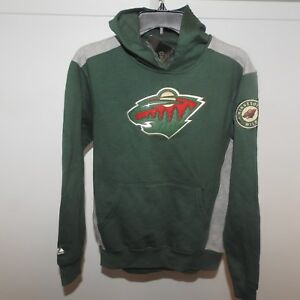 Image is loading NHL-Minnesota-Wild-Hockey-Hooded-Sweatshirt-New-Youth- 7f765af2ffd