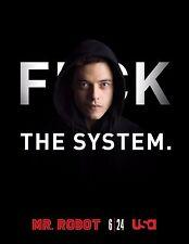 Mr. Robot Season 1 TV Poster (24x36) - Rami Malek, Christian Slater f society v4