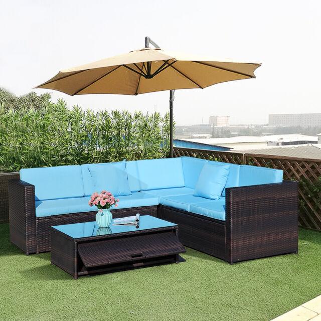 Piece Folding Blue Patio Furniture