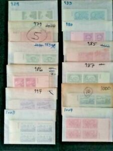 Wholesale Lot of 50 Vintage US Mint Plate Blocks 200 Stamps MNH Unused Old Hoard