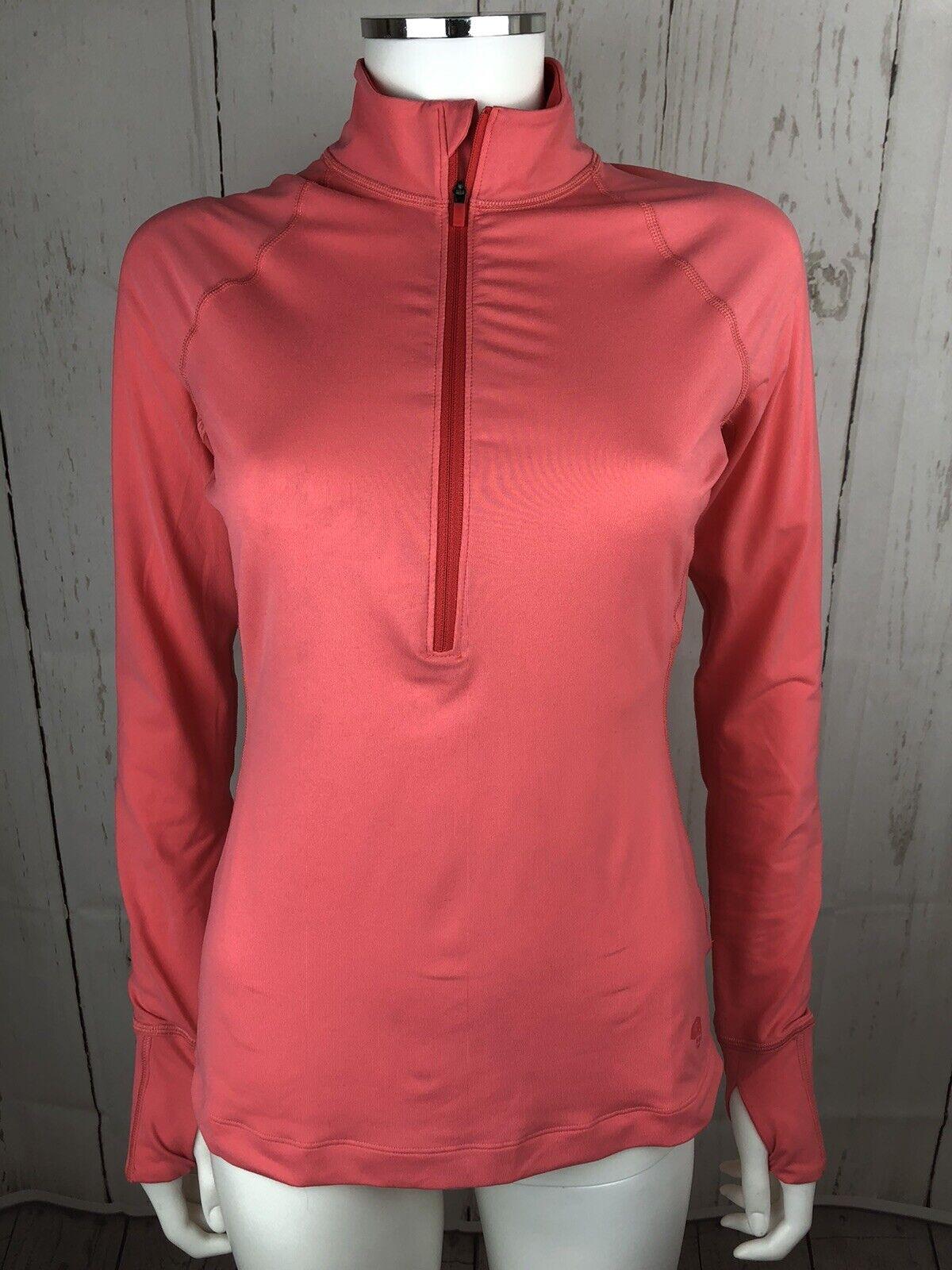 Mountain Hardware Women's Pullover Jacket WICK Q Half Zip Active Thumbholes