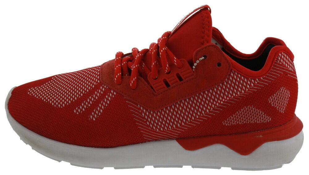 105625-1593 Adidas Tubular Runner Weav Sneaker Rouge Eur 42