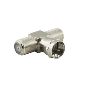 F-Plug-Male-to-Dual-F-Jack-Female-Coaxial-Connector-Adapter-for-TV-Tuner-Antenna
