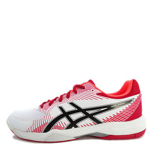 Asics-GEL-Task-B704Y-0123-Men-Volleyball-Badminton-Shoes-White-Red-Black