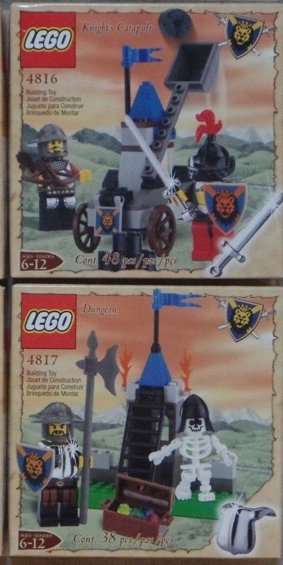 Lego 4816 4817 Knight catapulta & Dungeon Castillo conjuntos de nuevo como nuevo sellado 2000