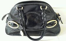 TOD'S Black Patent Leather Handbag / Shoulder Bag Outstanding