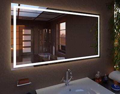 Wandspiegel mit LED SENSOR SCHALTER und Wetterstationauf GrößeMadrit K10