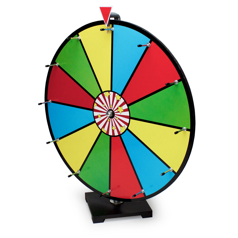 24  Multi color Dry Erase Prize Wheel Table Top Carnival
