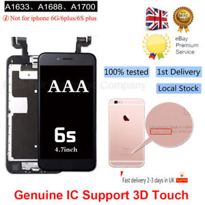 LCD Screen for iPhone 6s Digitizer Touch Home Button Camera Replacement Black UK