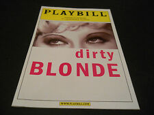 APRIL 2002, PLAYBILL, DIRTY BLONDE, THE PARKER PLAYHOUSE, SALLY MAYES