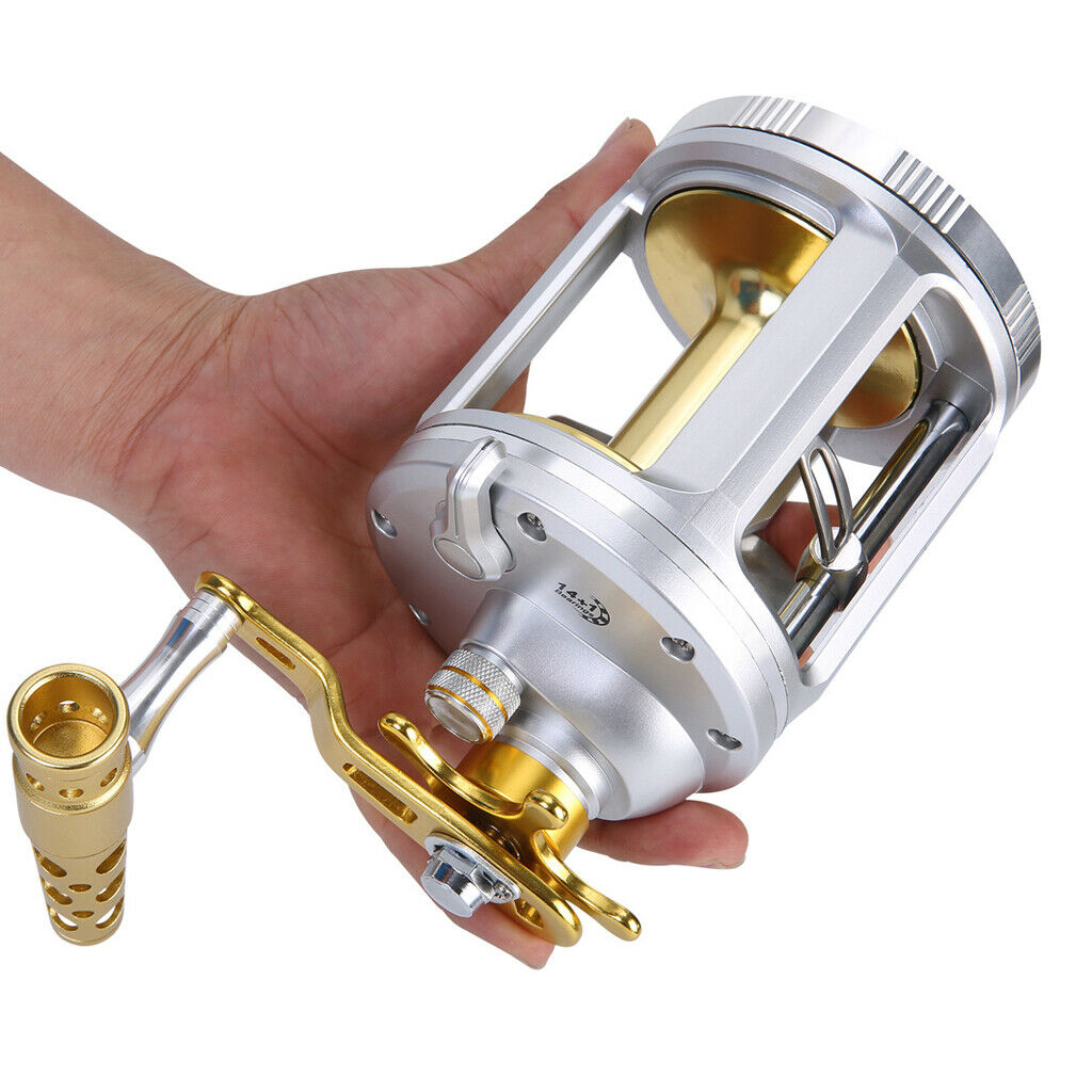Perfeclan Round Baitcasting Reel Conventional Drum Reel Bass estrella Drag bobine