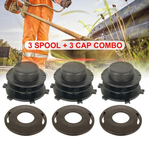 3Pcs Head Cover For Stihl 25-2 FS 55 80 83 85 90 100 110 120 130 3Pcs Spools