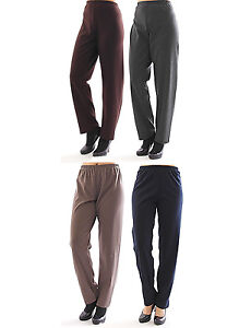 Ladies-Pull-on-Trousers-Slip-form-Cloth-Wool-Winter-warm-Elasticated-waistband