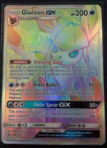 Pokemon-Glaceon-GX-Rainbow-Rare-Ultra-Prism-159-156-Rainbow-Hyper-Rare