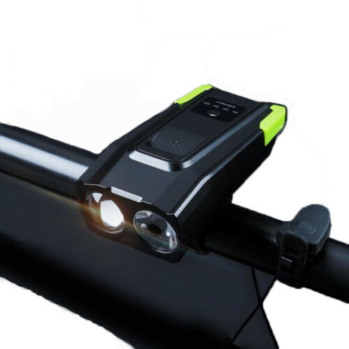 T6 Lamp Bulb Bicycle Headlight 120dB Horn USB Rechargeable Bike Front Light