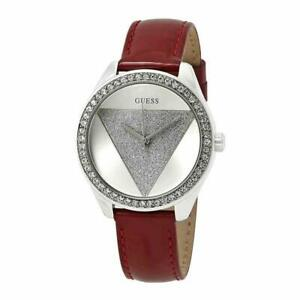 Guess-Tri-Glitz-movimento-al-quarzo-con-quadrante-in-argento-e-cinturino-ladies-watch-W0884L1