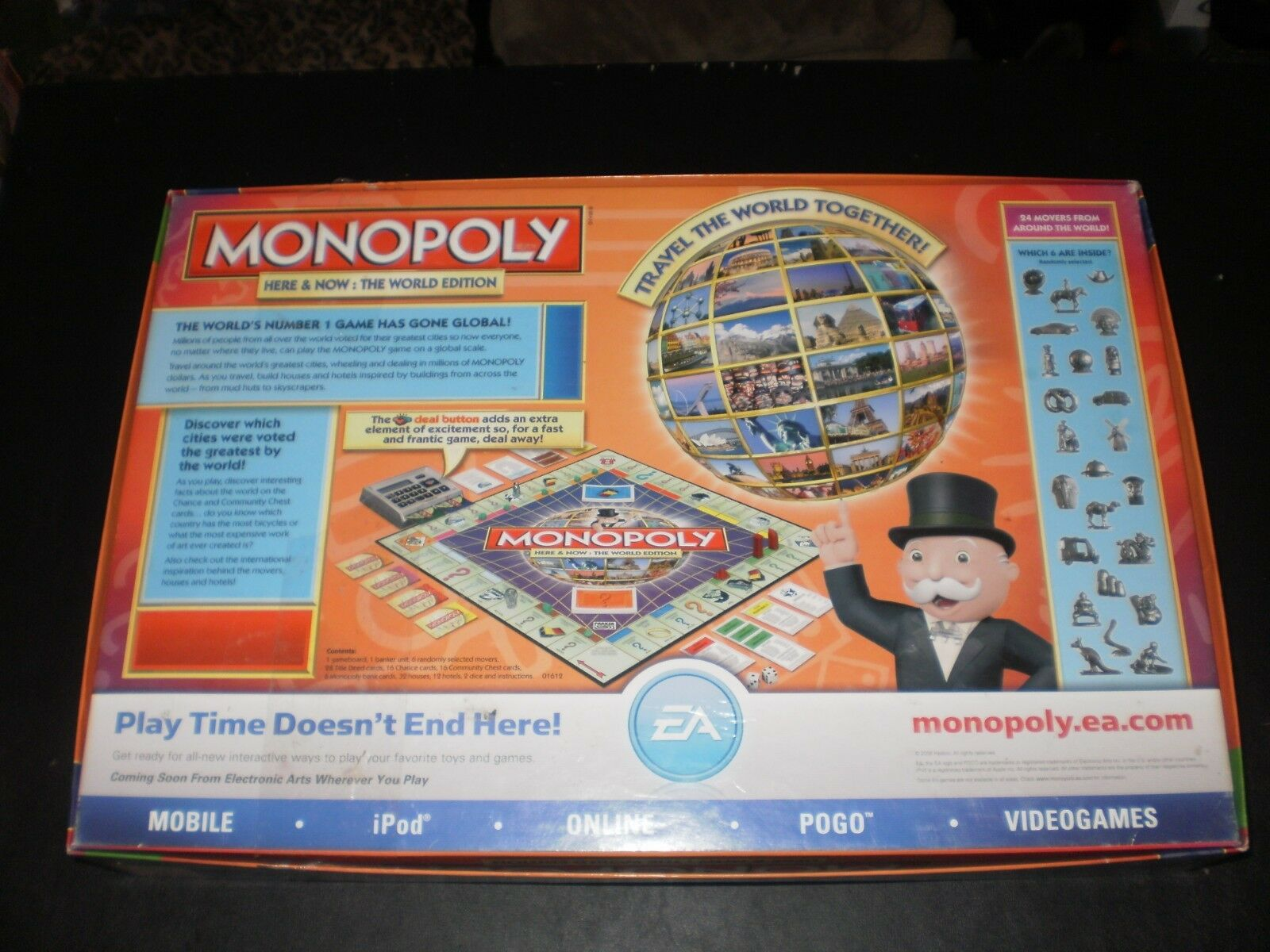 Monopoly Here Now The World Edition 2008 Parker Brothers 01612