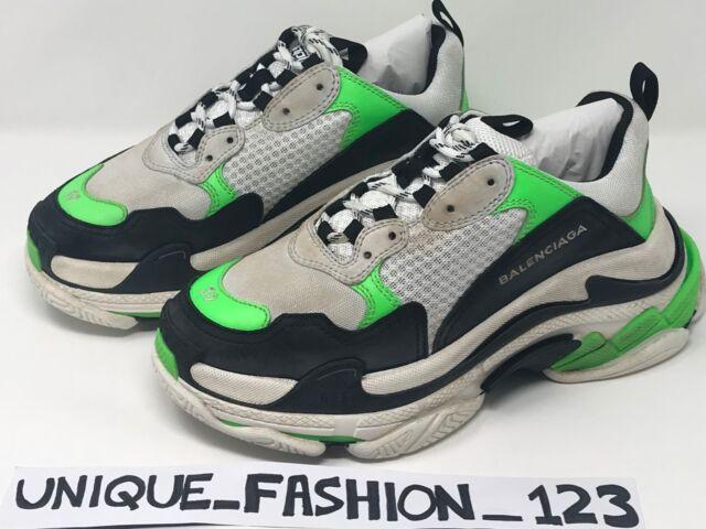 Balenciaga Triple S X Mr Porter 43 US 10 UK 9 28 Neon Green SNEAKERS
