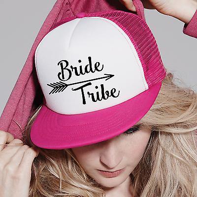 Bride Tribe Snapback Hat Hen Night Wedding Trucker Baseball Cap Text Half  Mesh 2 299c179c70b6