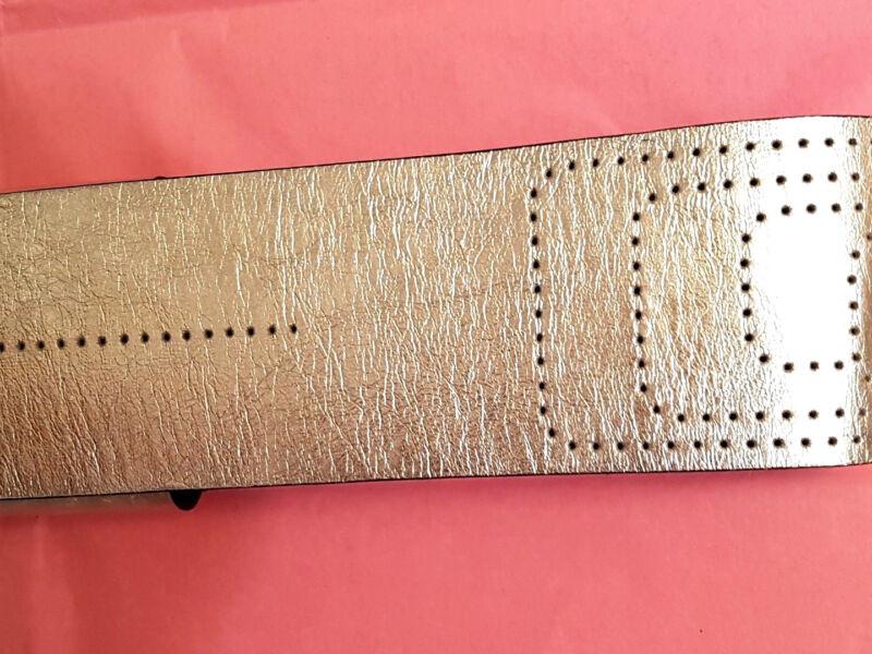 Gü44-neu Italy Boutique Echt Leder Silber 7 Cm Breit 103 Cm Ausgefallen Gürtel Einfach Zu Reparieren