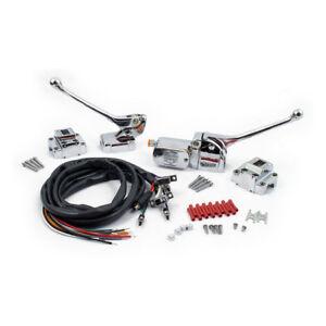 Armature-pour-guidon-complet-chrome-interrupteur-Harley-Davidson-Gros-Jumeau