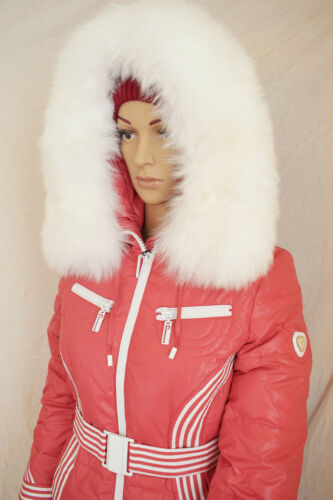 Winterjacke Puder-Rosa NEU Daunenjacke mit Kapuze mit Fell 34 38 GR 42