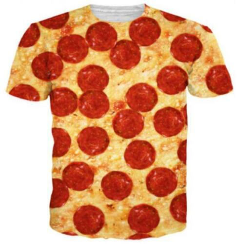 New Fashion Womens//Mens Funny Delicious  Pizza 3D Print Casual T-Shirt YT501