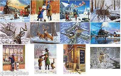 12 Diseños Navidad Nieve Escenas Festivo Cuadros A3 & A4 Pintar Por Número Kits