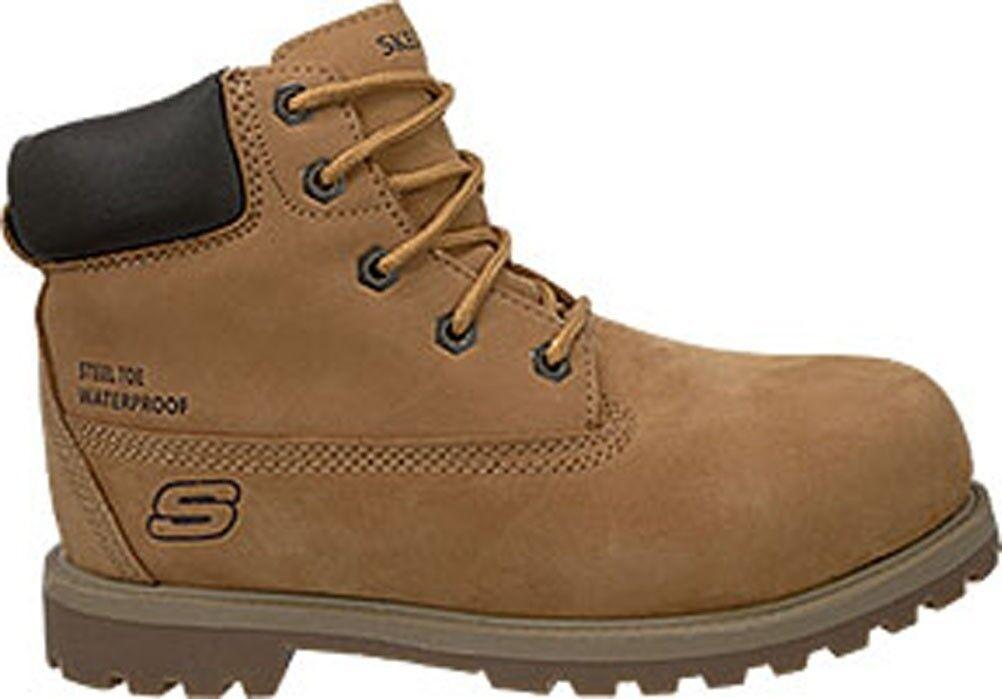New Skechers toe Work S/T  steel toe Skechers Pinnacle 76482 mens Stiefel sz 10 b1cc8d