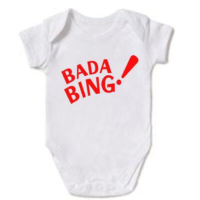 BADA BING MOB THE SOPRANOS MAFIA BABY GROW BODYSUIT VEST GIFT