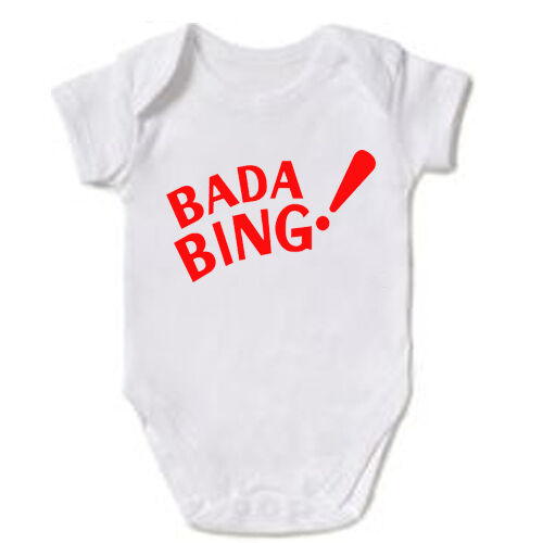 Bada Bing Mob The Sopranos Mafia Baby Grow body gilet cadeau