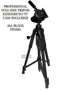 75-034-Heavy-Duty-Tripod-3-Way-Panhead-bubble-level-For-all-SLR-Camera-camcorder