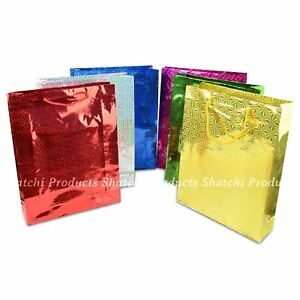Holographic-Gift-Bags-Large-Glossy-Assorted-Party-Bags-Supplies-Wedding-Birthday