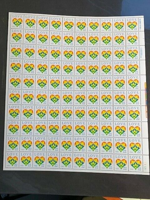 Scott #2248 22¢  LOVE Sheet of 100  - Mint Never Hinged Perfect!!!