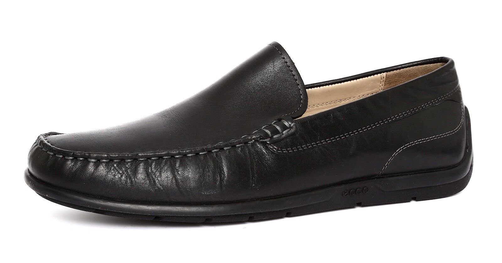 ECCO Men's Classic Slip Leather On Leather Slip Loafer Sz 43 e693c6