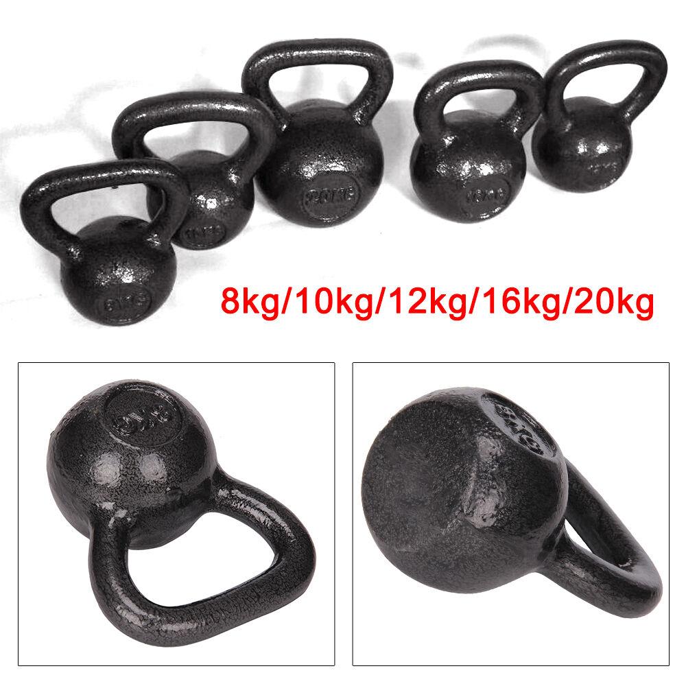 Kettlebell Manubrio Palestra 8kg-20kg Attrezzi Ginnici In  Ghisa Fitness